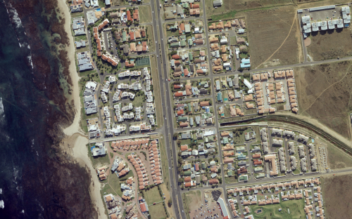 high resolution aerial image of Cape Town taken by Promap Surveys in South Africa