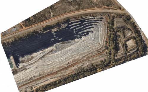 LiDAR image of a pit in South Africa taken by Promap