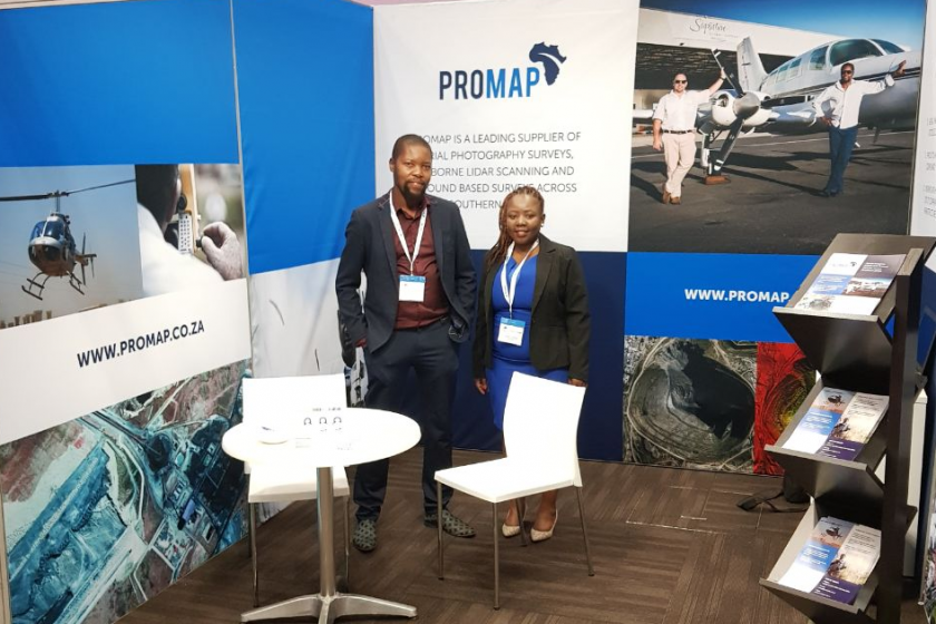 image of the Promap stand at the Geomatics Indaba 2017 in South Africa