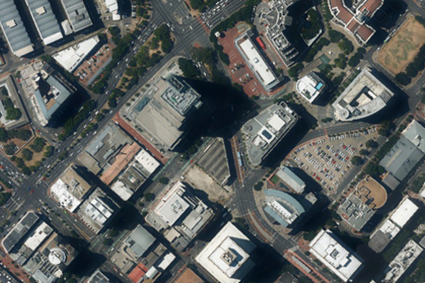Oblique aerial image of Cape Town South Africa captured by Promap