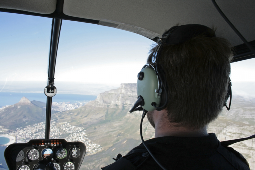 pilot of aerial survey plane Promap Surveys South Africa